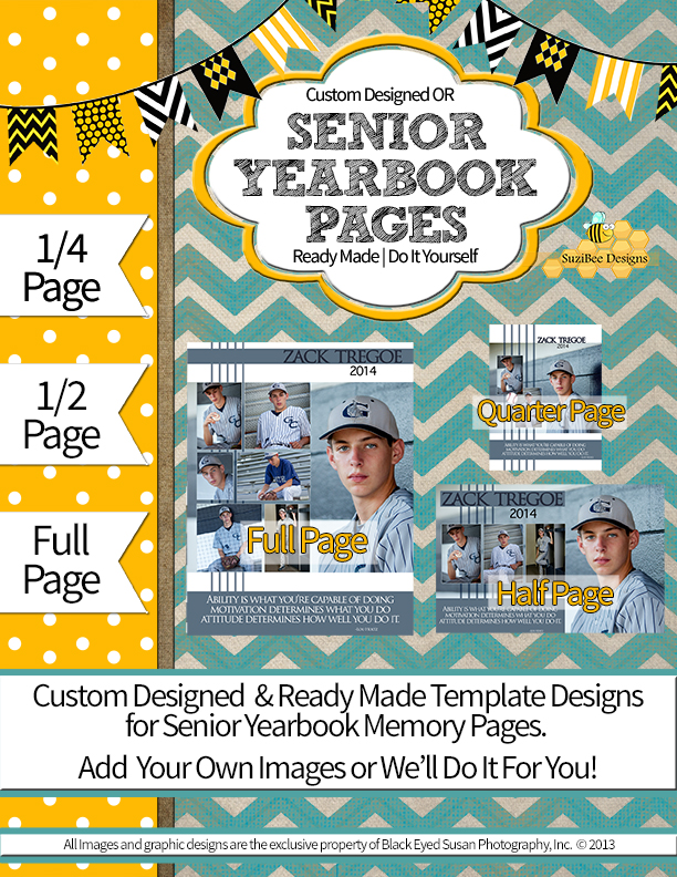 Suzibee designs senior yearbook pages graduation cards for Templates for yearbook pages