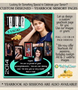 Custom Designed Senior Yearbook Ad & Capture Session-